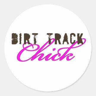 DirtyChick1 Round Stickers