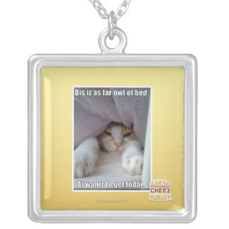 Dis iz as far owt of bed.. silver plated necklace