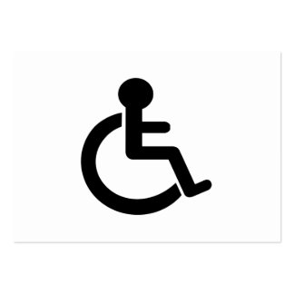 Disability Disabled  Symbol Business Card
