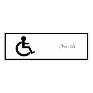 Disability Disabled  Symbol Pack Of Skinny Business Cards