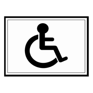 Disability Disabled  Symbol Pack Of Chubby Business Cards