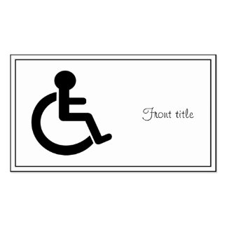 Disability Disabled  Symbol Pack Of Standard Business Cards