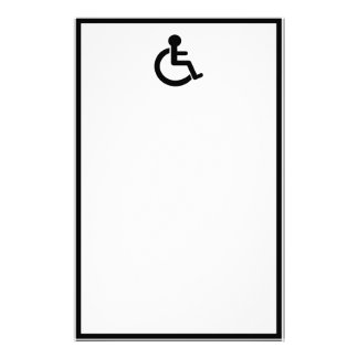 Disability Disabled  Symbol Stationery Design