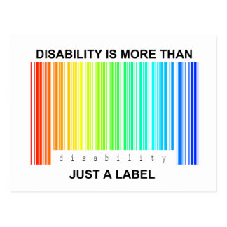 Disability is more than a label postcard