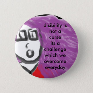 disability is no curse 6 cm round badge