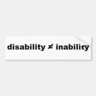 Disability Math Bumper Sticker