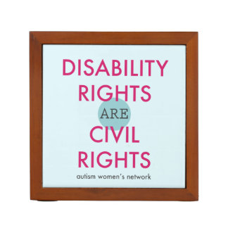 Disability Rights Desk Organizer Desk Organisers