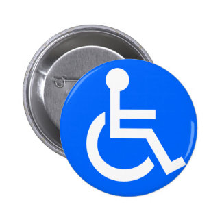 Disability Symbol 6 Cm Round Badge