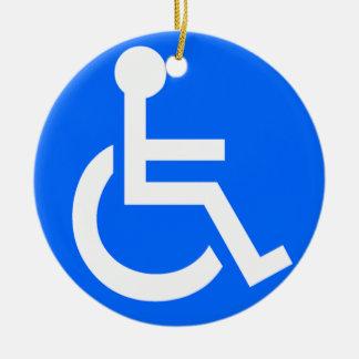 Disability Symbol Christmas Ornament