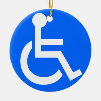 Disability Symbol Round Ceramic Decoration