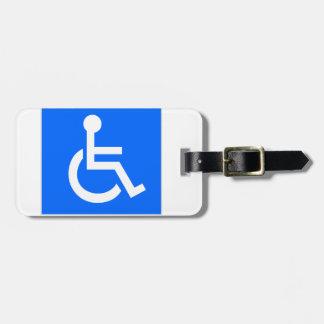 Disability Symbol Travel Bag Tags