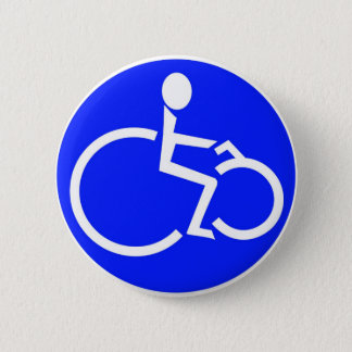 disabled biker products 6 cm round badge
