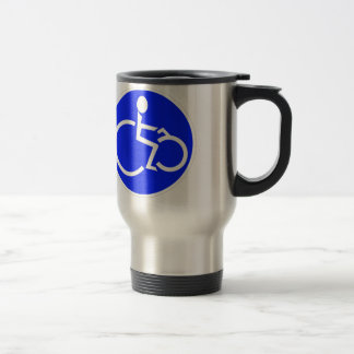 disabled biker products stainless steel travel mug