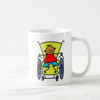 Disabled Boy Classic White Coffee Mug