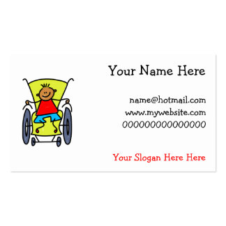 Disabled Boy Pack Of Standard Business Cards
