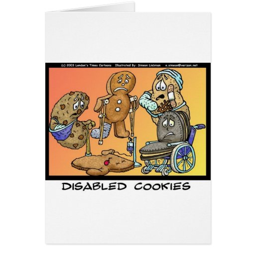 Disabled Cookies Funny Gifts & Collectibles Cards