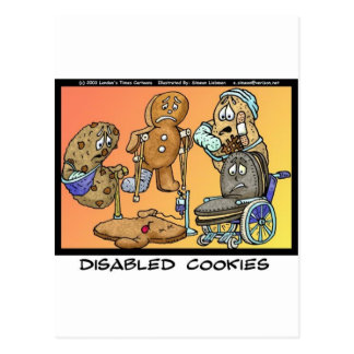Disabled Cookies Funny Gifts & Collectibles Postcard