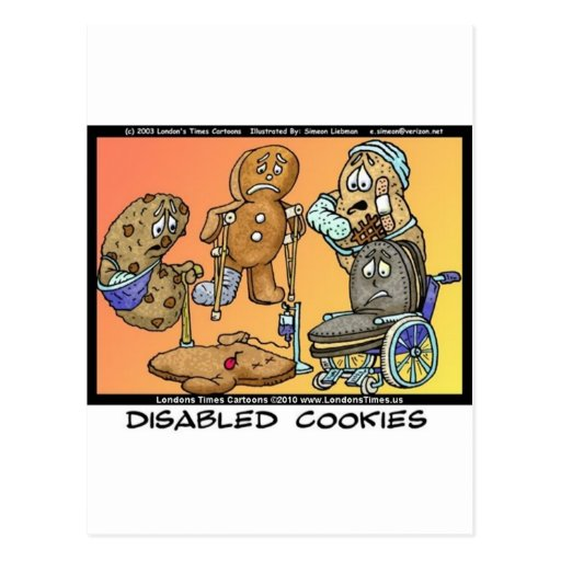 Disabled Cookies Funny Internet Gifts Tees Mugs Post Cards
