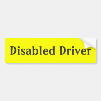 Disabled driver yellow bumper stickers