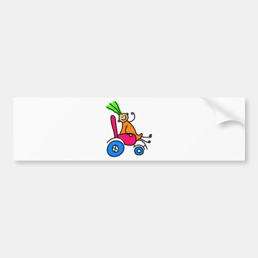 Disabled Girl Bumper Stickers