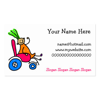 Disabled Girl Pack Of Standard Business Cards