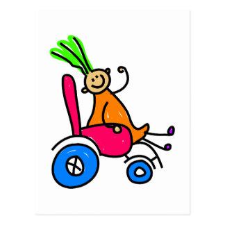 Disabled Girl Postcard