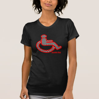 Disabled In Retro Red Women's T-shirt