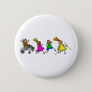 Disabled Kids 6 Cm Round Badge