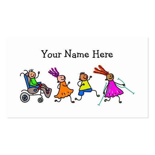 Disabled Kids Business Card