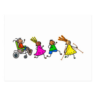 Disabled Kids Postcard
