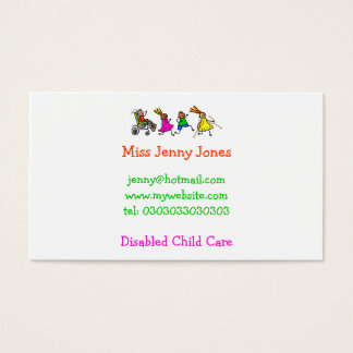 Disabled Kids, Special Needs Business Card