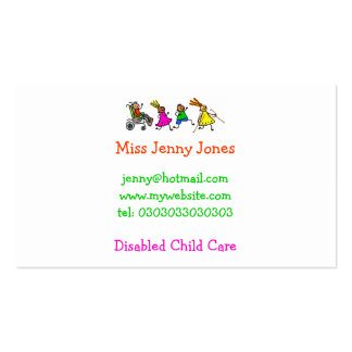 Disabled Kids, Special Needs Pack Of Standard Business Cards