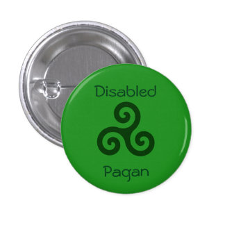 Disabled Pagan 3 Cm Round Badge