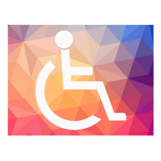 Disabled Persons Graphic Postcard