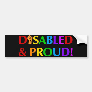 Disabled & Proud Bumper Sticker