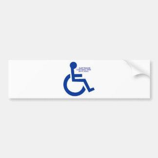 disabled sign car bumper sticker