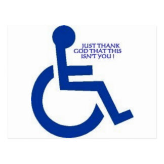 disabled sign post cards