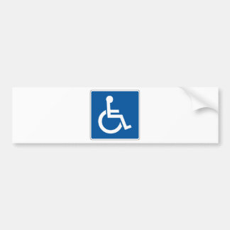 Disabled Street Sign Bumper Sticker