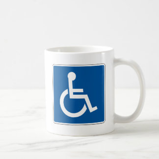 Disabled Street Sign Coffee Mugs