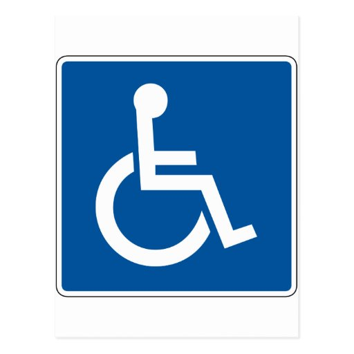 Disabled Street Sign Postcard