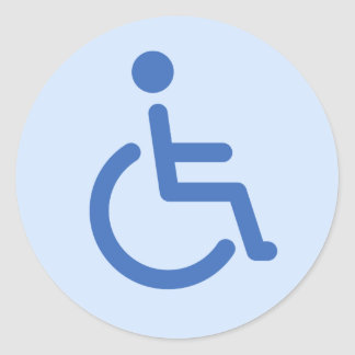 Disabled symbol classic round sticker