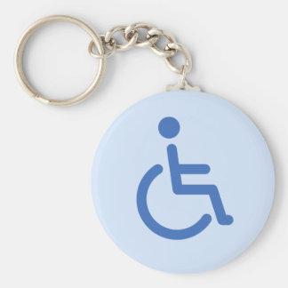 Disabled symbol or blue handicap toilet keychain