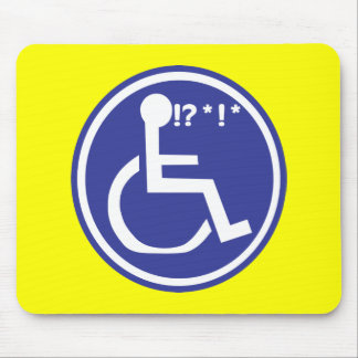 DISABLED WHEELCHAIR BAD LUCK MOUSE MAT