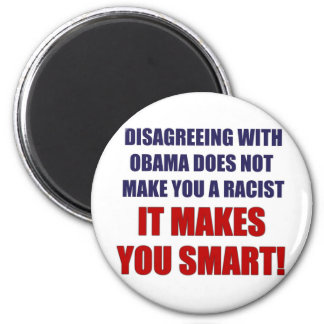 Disagreeing with Obama 6 Cm Round Magnet
