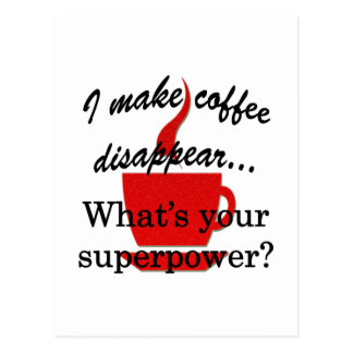 Disappearing Coffee Postcard