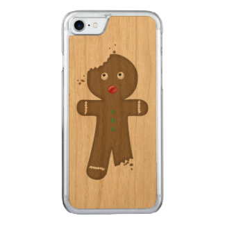 Disappearing Gingerbread Man Carved iPhone 8/7 Case