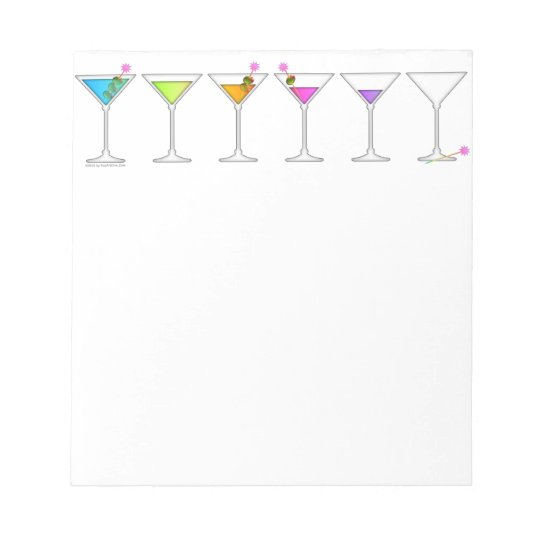 DISAPPEARING MARTINI NOTEPAD