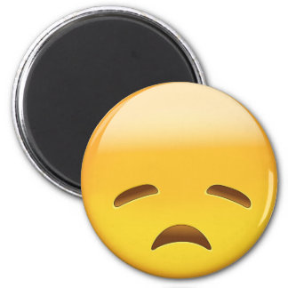 Disappointed Face Emoji 6 Cm Round Magnet
