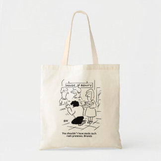 Disappointed husband in Beauty Salon Budget Tote Bag