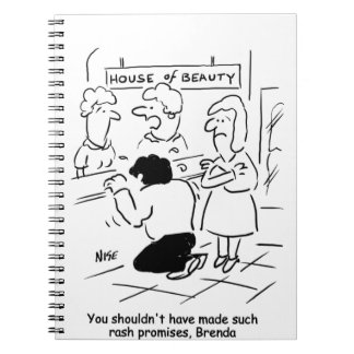 Disappointed husband in Beauty Salon Notebook